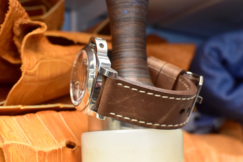 Mocha Leather Watch Band