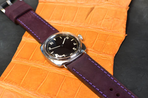 Plenty Purple Horween Leather Watch Band