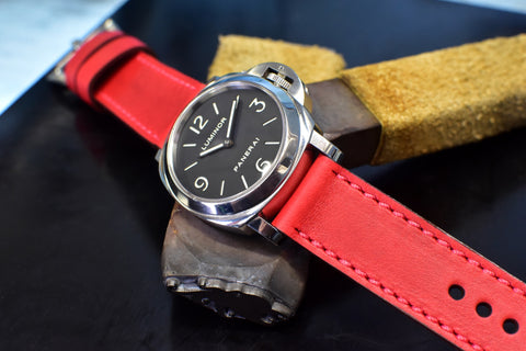 Ruby Leather Watch Band