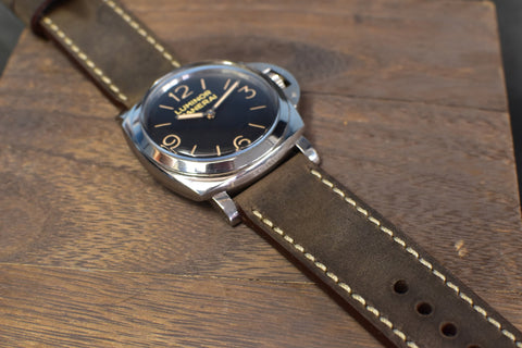 V-Dark Leather Watch Strap