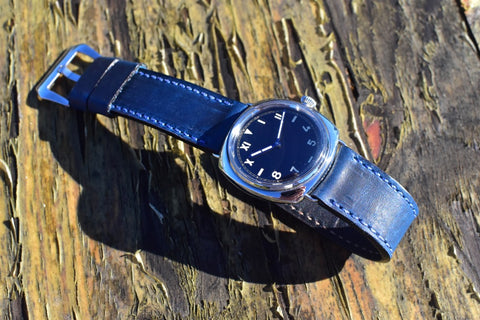 Blueberry Horween leather Panerai strap