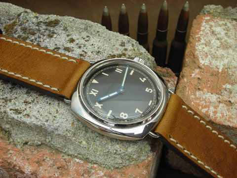 Grizzly handmade watch strap on Panerai Cali dial 249