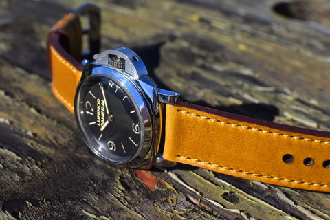 Harvest Horween Chromexcel strap on Panerai 372