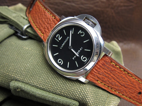 Kilauea handcrafted shark watch strap on Panerai PAM 112