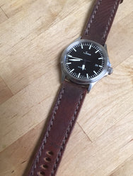 Mauser with Brown stitching on a Sinn