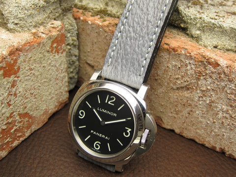 Maverick light gray custom shark watch strap