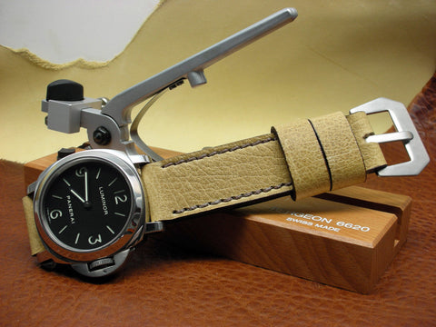Nomad fine leather watch band on Panerai Luminor 112