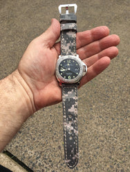 Rolled Army Canvas watch band gallery