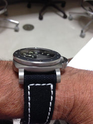 Rolled Black Canvas watch band gallery