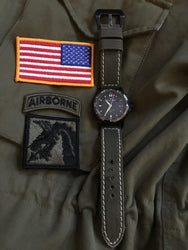 Rolled Dark American Canvas watch band gallery