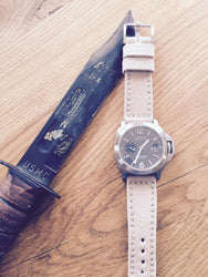 Rolled Tan Canvas watch band gallery