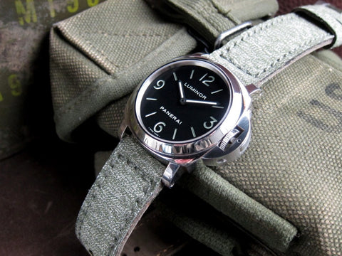Swiss Canvas vintage military watch strap