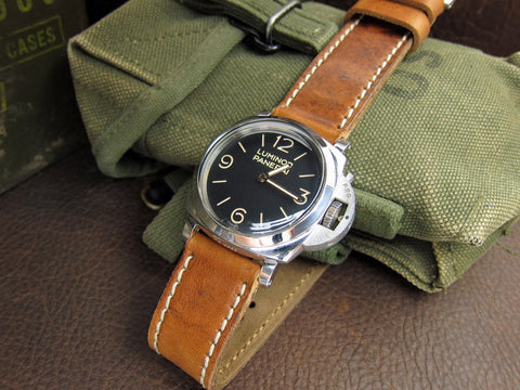 Z-Matten handcrafted vintage leather watch strap Panerai PAM372 Luminor
