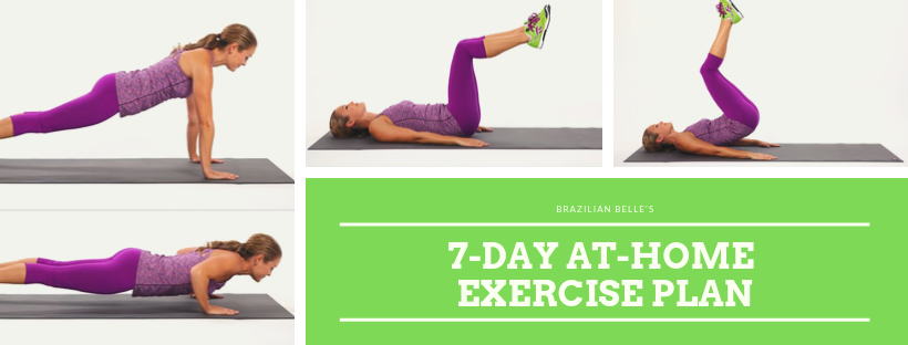 7-Day at home exercise plan for weight loss