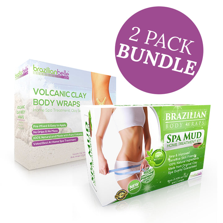 Brazilian Belle Spa Mud & Volcanic Clay Body Wraps Bundle