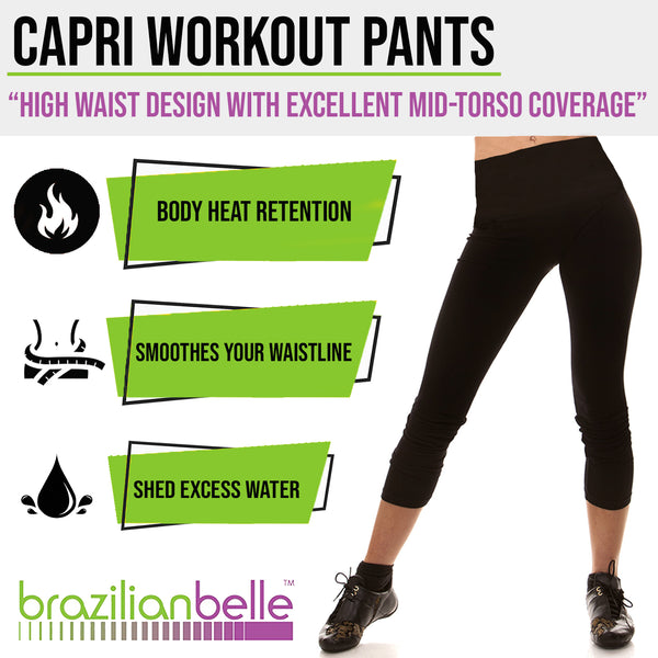 High Waist Workout Capri - Available in 6 Sizes!