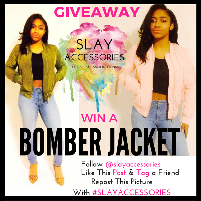 Slay Accessories Giveaway for a Cute Bomber Jacket