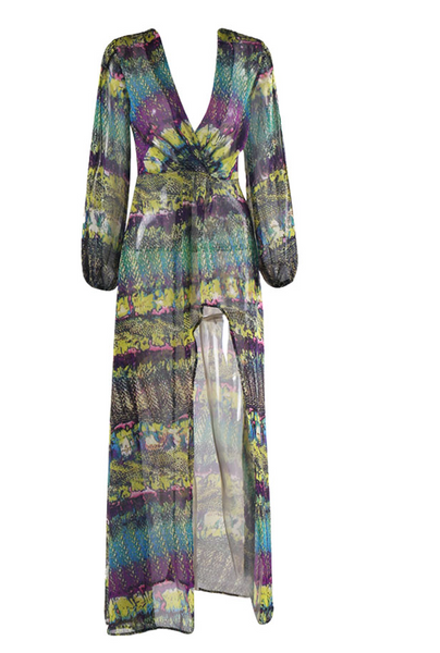 Carrie Tropical Maxi Dress