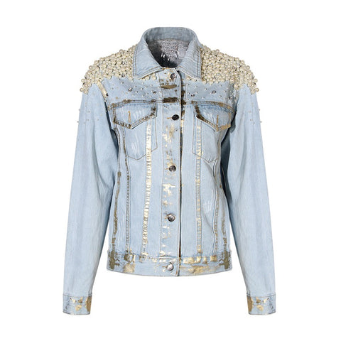 Slay Accessories. Embellished denim jacket.