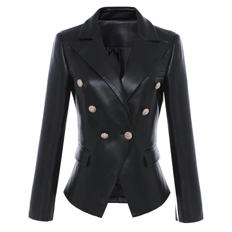 Tracey Vegan Leather Blazer