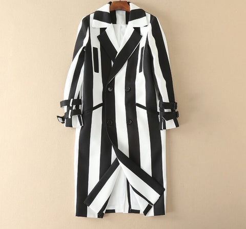 Saint Black and White Trench Coat