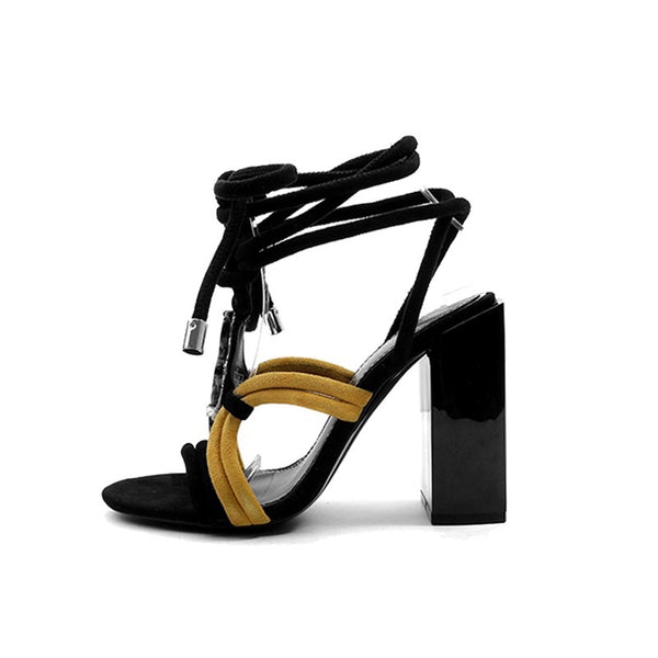Slay Accessories. Embellished wrap high heel sandals.