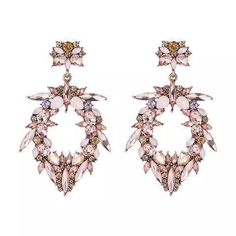 Slay Accessories. Crystal drop statement earrings.