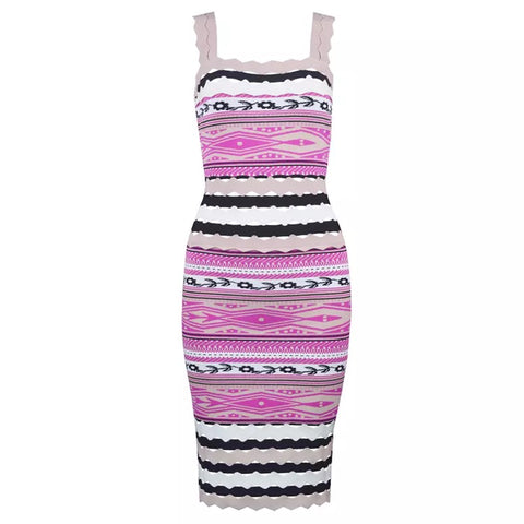 Slay Accessories. Colorful stripe bandange dress.
