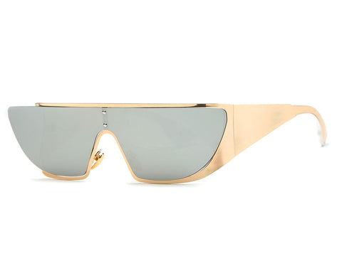 Slay Accessories. Stylish gold metal frame sunglasses.