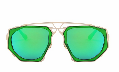 Ali Green Mirror Sunglasses