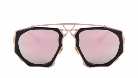 Ali Pink Mirror Sunglasses
