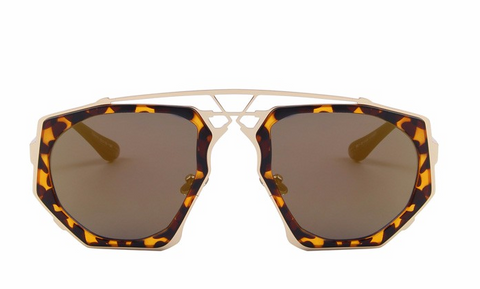 Ali Tortoise Mirror Sunglasses