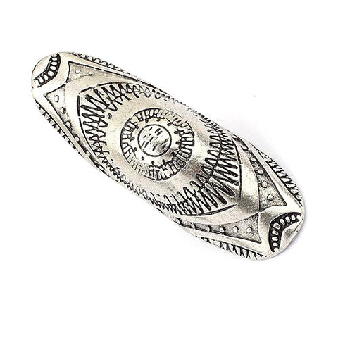 Gypsy Vintage Boho Rings Carved Antique Silver Women Beach Bohemian Joint Ring