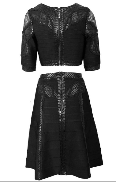 Arnita Black Two Piece Dress