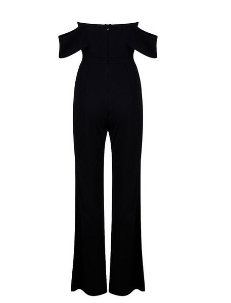 Baila Black Off Shoulder Jumpsuit