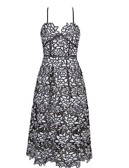 Sam Black and White Lace Dress
