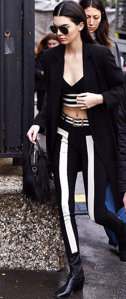 Slay Accessories. Black and white bandage pants set. Bandage leggings and crop top.