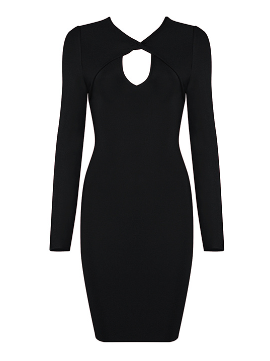 Slay Accessories black bandage mini dress. Black cut out dress. Elka black bandage dress.
