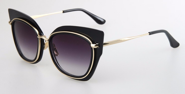 Black Frame Cat Eye Sunglasses