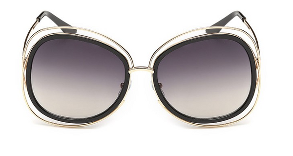 Runway Over Sized Round Frame Sunglasses