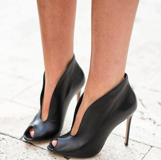 Kelis Black Leather Booties