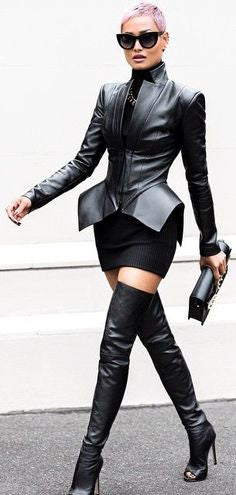 Adele Open toe Thigh High Boots