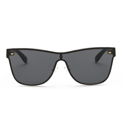 Maldives Sleek Black Rimless Sunglasses