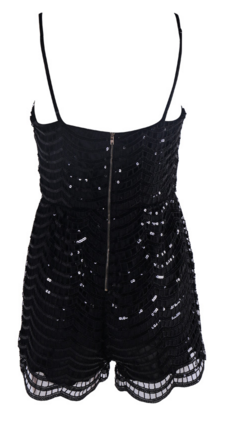Slay Accessories. Sequins Jumpsuit. Black sequins romper. Black Sequins jumpsuit.
