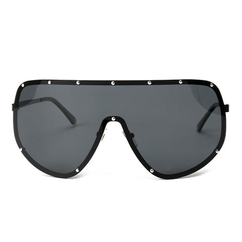 Slay Accessories. Designer style oversized sunglasses with silver studs.