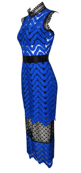 Robin Blue and Black Lace Dress