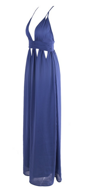 Celia Blue Maxi Dress