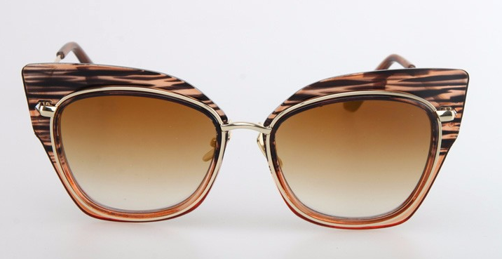 Tan Grained Cat Eye Sunglasses