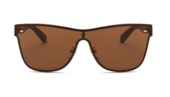 Maldive Sleek Brown Rimless Sunglasses