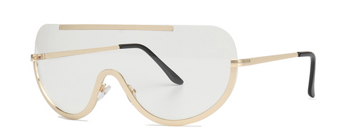 Slay Accessories. Clear lens gold frame sunglasses.